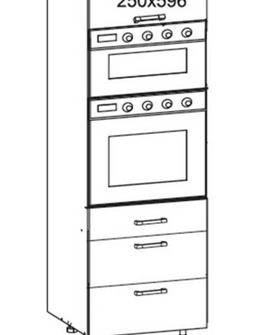 IRIS vysoká skříň DPS60/207 SMARTBOX O, korpus šedá grenola, dvířka ferro