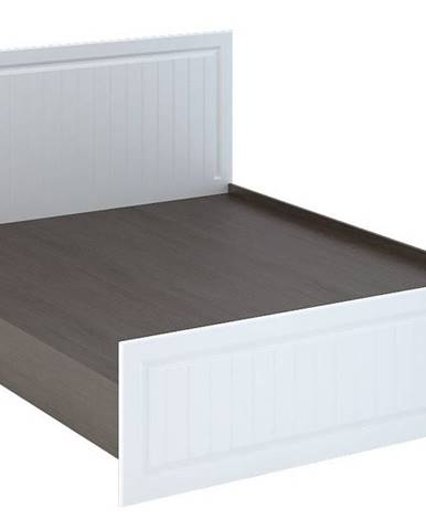 PRAGA KP-901 postel 160 cm, wenge/bílá (PRAGA KR901-A1 POSTEL 160 bílé dřevo)