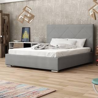 Čalouněná postel SOFIE 5 180x200 cm, šedá látka