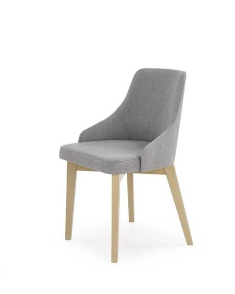 Smartshop Jídelní židle TOLEDO, dub sonoma/ světle šedá