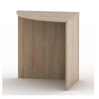 TEMPO AS NEW 024 stůl rohový obloukový, dub sonoma