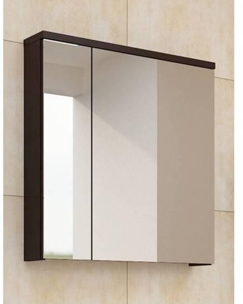 Smartshop PORTO, skříňka horní se zrcadlem, wenge