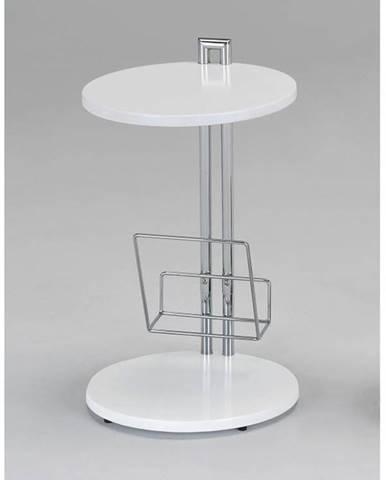 ANABEL odkládací stolek, bílá/chrom