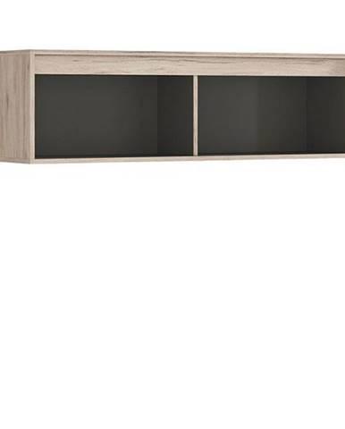 RONSE závěsná skříňka SFW/120, dub san remo světlý/šedý wolfram