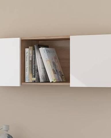 Závěsná skříňka UNO, dub sonoma/bílý lesk