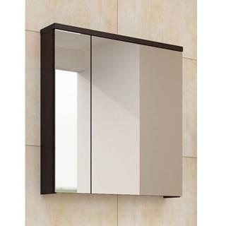 PORTO, skříňka horní se zrcadlem, wenge