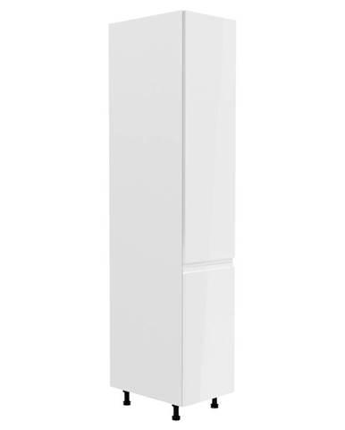ASPEN, vysoká skříňka D40SP levá, bílá/bílý lesk