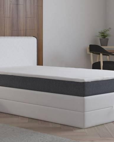 Postel s matrací a ÚP STANFORD 140x200cm (PUR - M120/I96), bílá