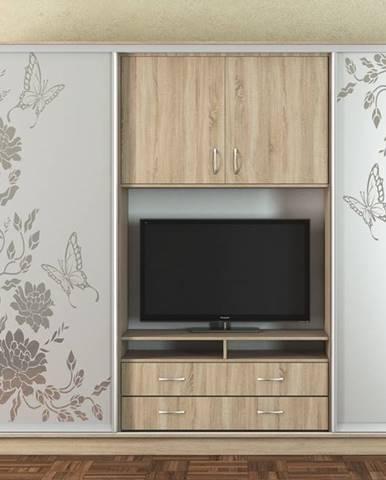 Šatní skříň/TV stěna UNIVERSAL 270, sonoma/CT-2