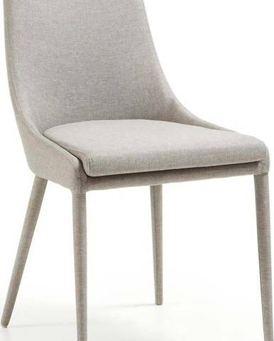 Šedá jídelní židle La Forma Fabric