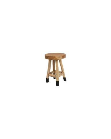 Stolička z teakového dřeva White Label Harry
