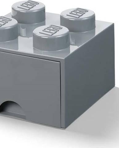 Dětský tmavě šedý úložný box se zásuvkou LEGO®