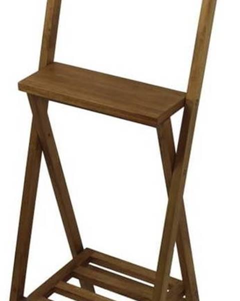 HSM collection Hnědý němý sluha z mahagonového dřeva HSM collection Dressboy, výška120cm
