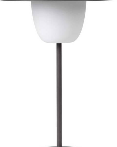 Blomus Šedá nízká led lampa Blomus Ani Lamp