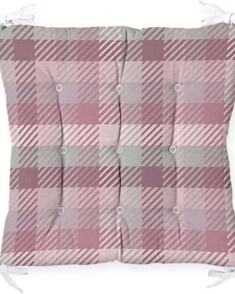 Minimalist Cushion Covers Podsedák na židli Minimalist Cushion Covers Flannel Pink, 40 x 40 cm