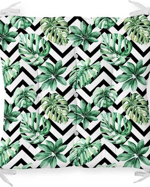 Minimalist Cushion Covers Podsedák s příměsí bavlny Minimalist Cushion Covers Palm Leaves,40x40cm