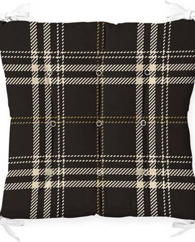 Podsedák na židli Minimalist Cushion Covers Flannel Black, 40 x 40 cm