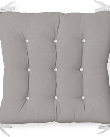 Podsedák na židli Minimalist Cushion Covers Gray Seat, 40 x 40 cm