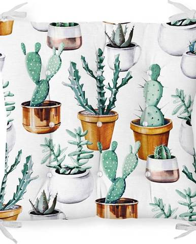 Podsedák s příměsí bavlny Minimalist Cushion Covers Cactus in Pot,40x40cm