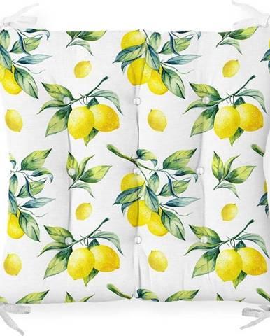 Podsedák s příměsí bavlny Minimalist Cushion Covers Lemons,40x40cm