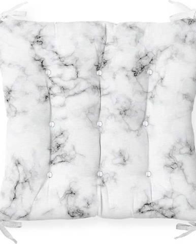 Podsedák s příměsí bavlny Minimalist Cushion Covers Marble,40x40cm