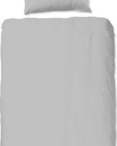 Světle šedé bavlněné povlečení na jednolůžko Good Morning Universal, 140 x 220 cm