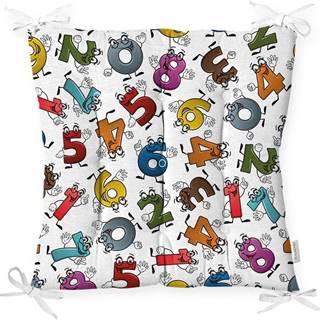 Podsedák s příměsí bavlny Minimalist Cushion Covers Crazy Numbers,40x40cm