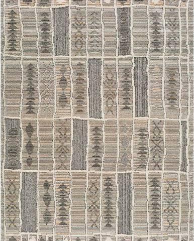 Béžový koberec Universal Piazza Stripe, 80 x 150 cm