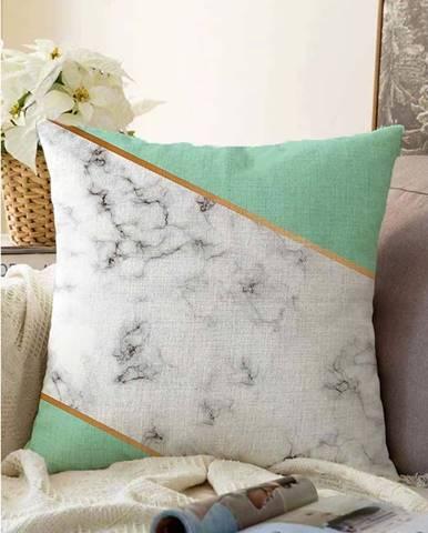 Povlak na polštář s příměsí bavlny Minimalist Cushion Covers Light Marble,55x55cm