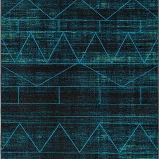 Modrý koberec Universal Neon Blue, 140 x 200 cm