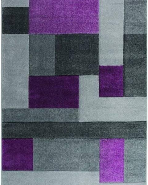 Flair Rugs Šedo-fialový koberec Flair Rugs Cosmos, 160 x 230 cm