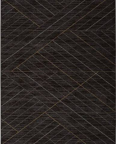 Černý koberec Universal Dark, 140 x 200 cm