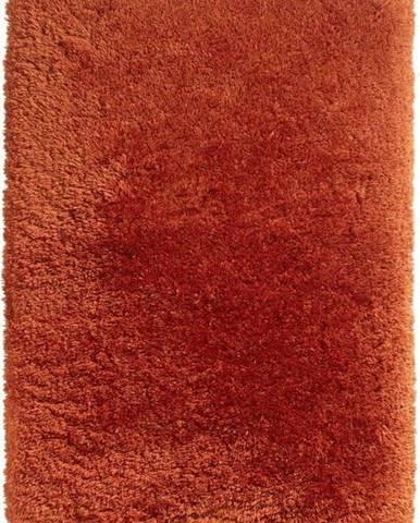 Červený ručně tuftovaný koberec Think Rugs Polar PL Terra, 80 x 150 cm