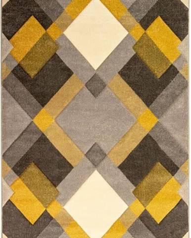Šedo-žlutý koberec Flair Rugs Nimbus, 160 x 230 cm