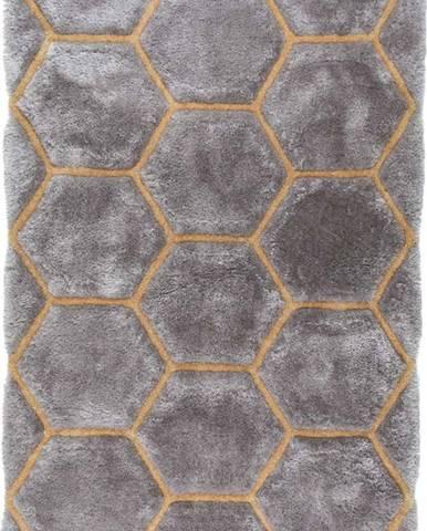 Šedý koberec Flair Rugs Honeycomb, 120 x 170 cm