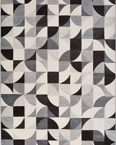 Šedý koberec Universal Adra Geo, 133 x 190 cm