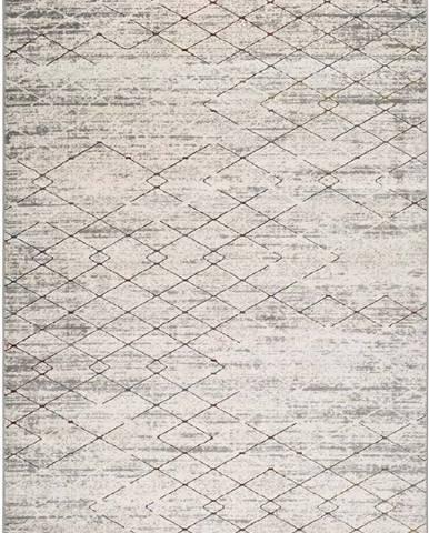 Šedý koberec Universal Berlin Geo, 80 x 150 cm