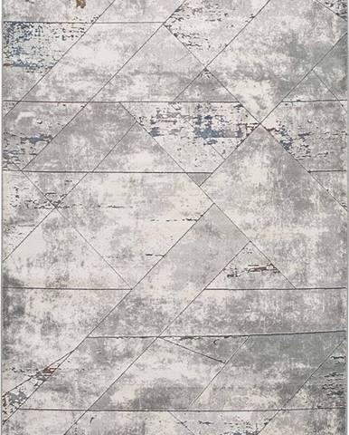 Šedý koberec Universal Berlin Line, 80 x 150 cm