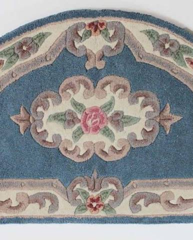 Modrý vlněný koberec Flair Rugs Aubusson,67x127cm