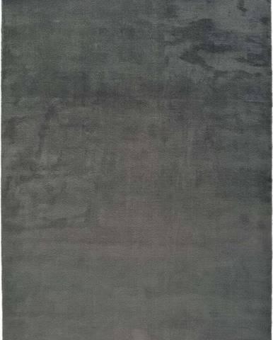 Tmavě šedý koberec Universal Berna Liso, 80 x 150 cm