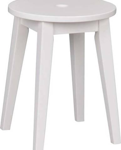 Bílá stolička s nohami z březového dřeva Rowico Metro, výška 44 cm
