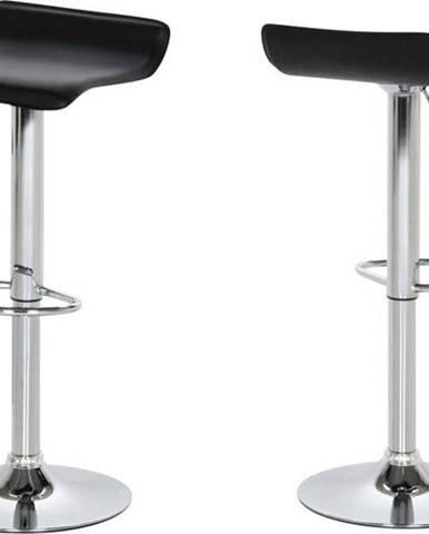 Sada 2 černých barových židlí Actona Dan