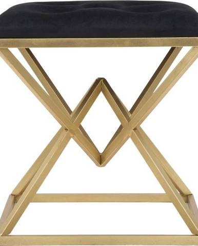 Stolička v černo-zlaté barvě Mauro Ferretti Piramid
