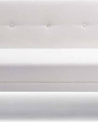 Bílá rozkládací pohovka z imitace kůže La Forma Regor