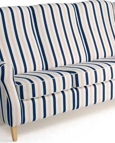 Modrobílá pruhovaná pohovka Max Winzer Lorris, 193 cm