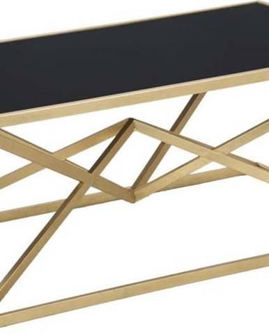 Konferenční stůl s černou skleněnou deskou Mauro Ferretti Piramid, 110 x 60 cm