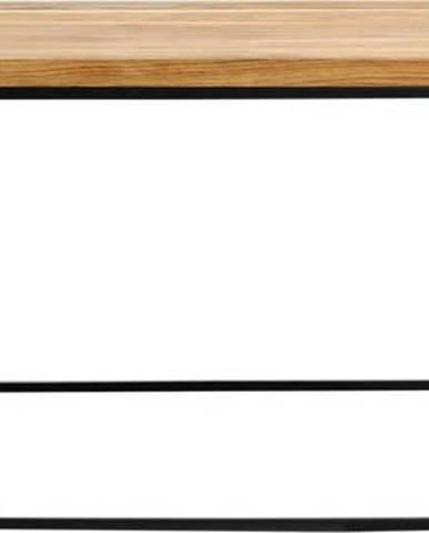 Konferenční stolek s černou konstrukcí Custom Form Tensio, 100 x 60 cm
