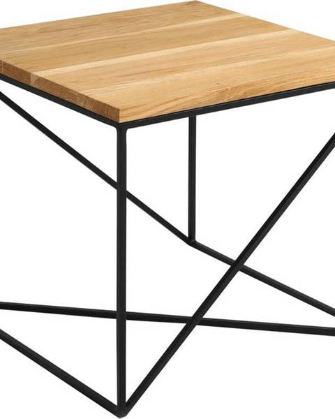 Custom Form Odkládací stolek v dekoru dubového dřeva Custom Form Memo, 50 x 50 cm