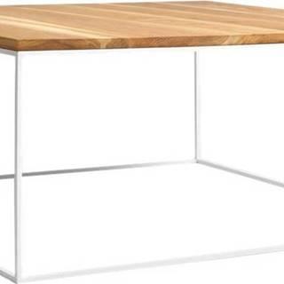 Konferenční stolek s bílou konstrukcí Custom Form Tensio, 100 x 100 cm