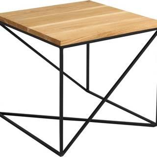Odkládací stolek v dekoru dubového dřeva Custom Form Memo, 50 x 50 cm